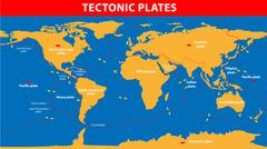 Plate tectonics Stock Illustration