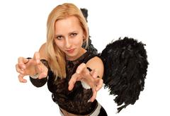 Black angel Stock Photos