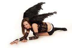 black angel - stock photo
