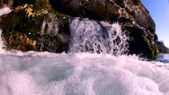 Stock Video Footage of Edge of the waterfall slow motion