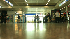 Slomo busy terminal in airport (with sound)# Stock Footage