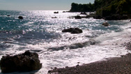Stock Video Footage of Stormy waves on the rocky shore