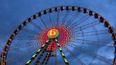 Giant wheel Stock Footage