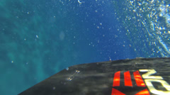 Wakeboard view from underwater and above Stock Footage