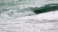 Stock Video Footage of Stormy waves on the beach