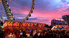 Oktoberfest great sky Stock Footage