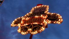 Light effects on fair Stock Footage