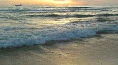 Sunset over the sea. audio Stock Footage