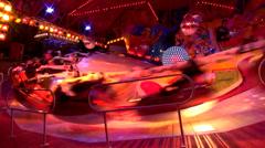 Speed carousel octoberfest fun Stock Footage