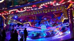 Speed carousel at fair Stock Footage