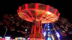 Chairoplane Oktoberfest Stock Footage