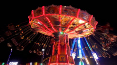 chairoplane carousel - stock footage