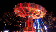 Stock Video Footage of chairoplane carousel