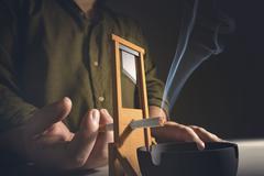 Cutting Addiction Stock Illustration