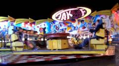 oktoberfest carousel - stock footage