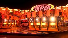 Oktoberfest carousel Stock Footage