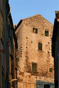 stone house in sibenik, croatia - stock photo