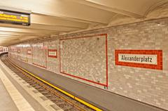 Alexanderplatz U-bahn (metro) station in Berlin Stock Photos
