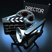 Director''s Chair Stock Illustration