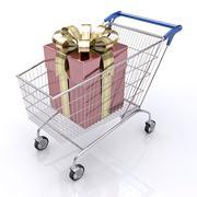 Gift Shopping - stock illustration