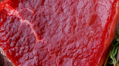 Fresh raw beef fillet Stock Footage
