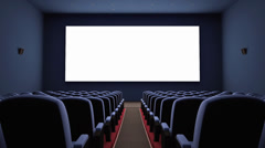 Stock Video Footage of Cinema Screen