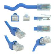 RJ45 views and angles Stock Illustration