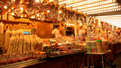 Sweets at fair popcorn Stock Footage