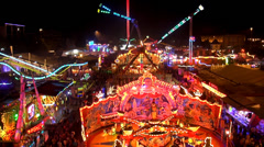 Aerial view, Oktoberfest, Octoberfest, fair,  Stock Footage
