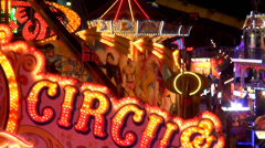 Light effects at fair Stock Footage