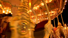 Kids carousel at fair Stock Footage