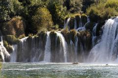 krka waterfalls, krka national park, dalmatia, croatia, europe - stock photo