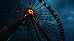 Attractions in Prater amusement park on May 21 2013 in Vienna, Austria. Stock Footage