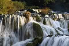 krka waterfalls, krka np, dalmatia, croatia, europe - stock photo