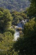 Waterfalls cascades, krka np, dalmatia, croatia, europe Stock Photos