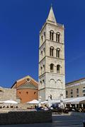 Croatia, dalmatia, zadar, church of st donat, byzantine bell tower built in e Stock Photos