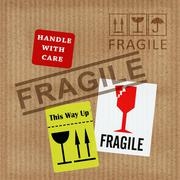 Fragile Notice Stock Illustration