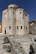 st donatus church on the old roman forum, zadar, dalmatia, croatia, europe - stock photo