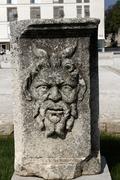 Stock Photo of relief at roman forum, zadar, dalmatia, croatia, europe