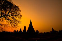 temple of ayudhaya thailand - stock photo