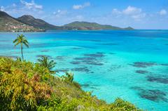 Incredible caribbean sea view of providencia island near san andres in colomb Stock Photos