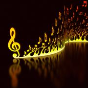 Musical Flame Stock Illustration
