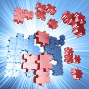 Explosion Puzzle Stock Illustration