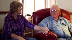 Worried elderly couple.mp4 Stock Footage