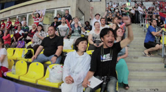 Japan  fans on Rugby World Cup Sevens 2013 Stock Footage