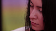 Makeup girl on the Rugby World Cup Sevens 2013 Stock Footage