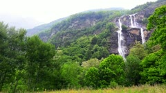Locked-on shot of a waterfall Stock Footage