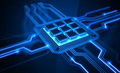 Micro Chip - stock illustration