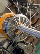 Braiding machine.flexible metal hose production line. Stock Photos