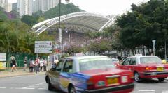HongKong Stadium Stock Footage